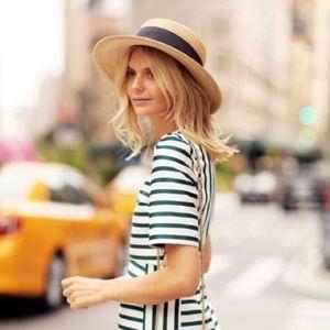 J. Crew Summer Fashion Straw Boater Hat